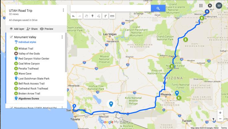 Screen shot whole map